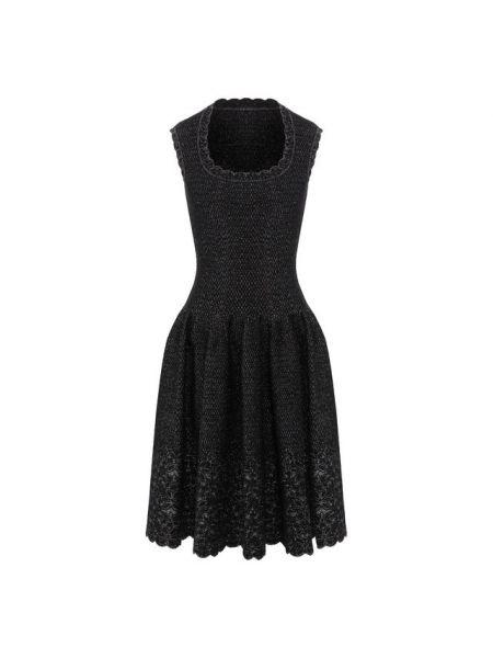 Платье с декольте с цветочным принтом Alaia