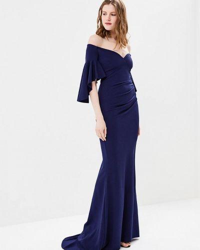 Синее платье весеннее City Goddess