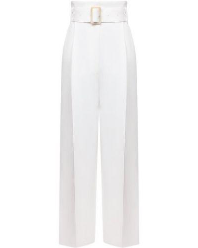 Золотистые белые брюки из вискозы Golden Goose Deluxe Brand
