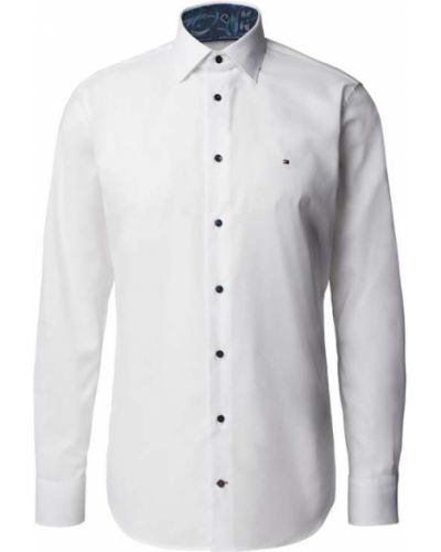 Biała koszula bawełniana Tommy Hilfiger