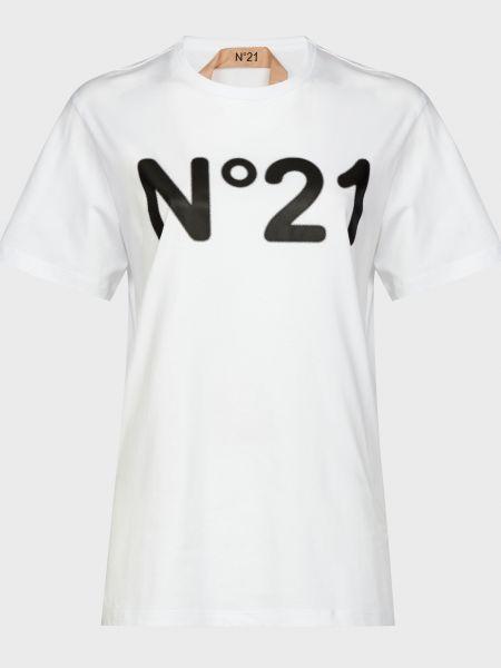 Хлопковая футбольная белая футболка N°21