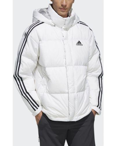 Спортивная куртка с нашивками белая Adidas