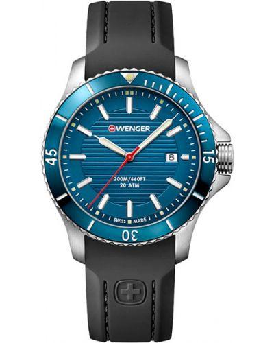 Часы водонепроницаемые силиконовые швейцарские Wenger