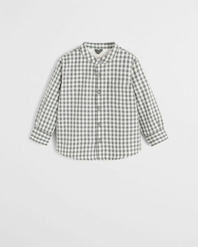 Рубашка с узором эластичный Mango Kids