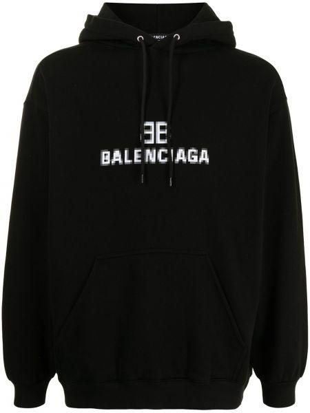 Худи длинное - черное Balenciaga