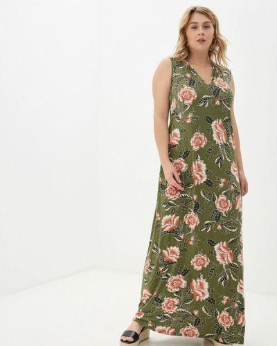 Повседневное платье осеннее зеленый Evans