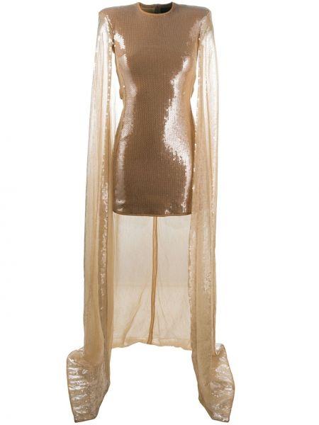 Прямое платье с пайетками с вырезом на молнии David Koma