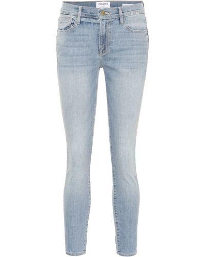 Zawężony bawełna niebieski bawełna obcisłe dżinsy Frame