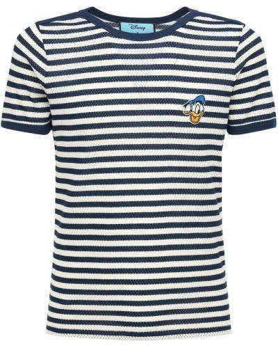 Bawełna niebieski bawełna koszula z haftem Gucci