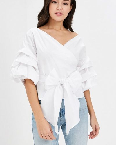 Белая блузка с рюшами Glamorous