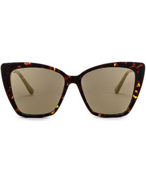 Okulary przeciwsłoneczne skórzany szary Diff Eyewear