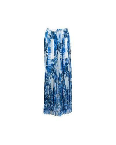 Плиссированная юбка макси из вискозы Versace Collection