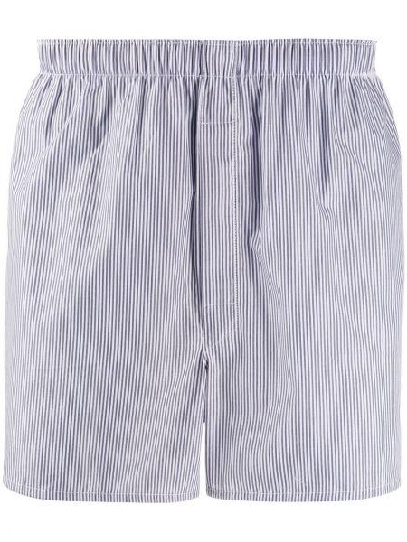 Хлопковые синие носки с поясом на пуговицах Sunspel