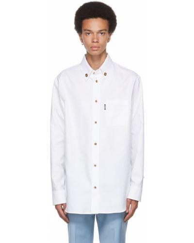 Biała koszula bawełniana Versace