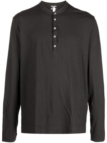 Czarny top z długimi rękawami bawełniany Officine Generale