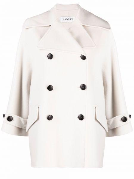 Белая куртка с воротником Lanvin