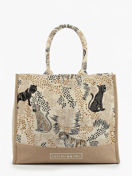 Пляжная сумка бежевый весенний Intimissimi