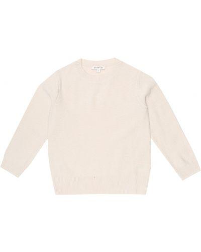 Белый мягкий шерстяной свитер Caramel