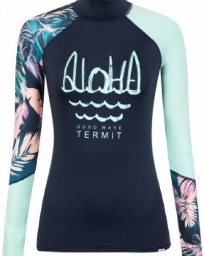 Зауженная синяя футболка для серфинга Termit