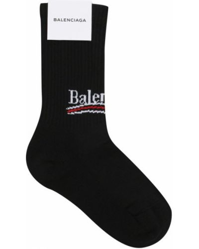 Носки в рубчик с надписью Balenciaga