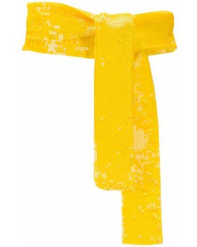 Широкий ремень желтый Attico