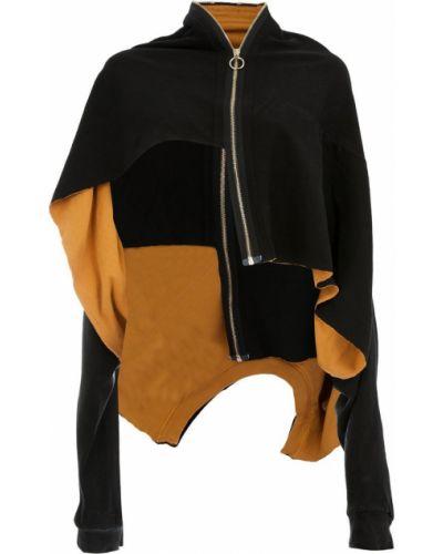 Черная длинная куртка Aganovich