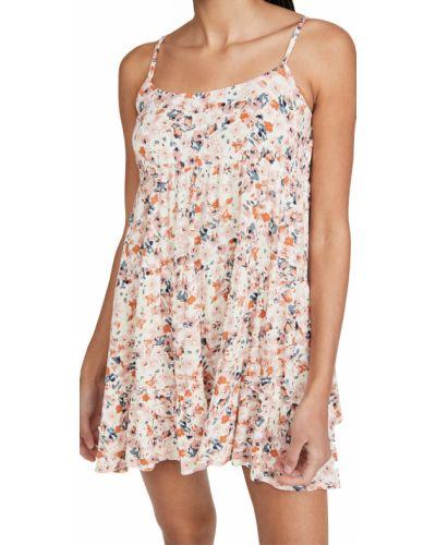 С ремешком платье мини в цветочный принт из вискозы Minkpink