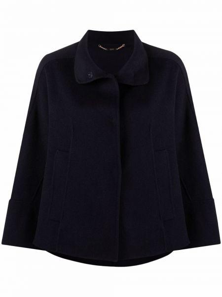 Синее шерстяное пальто Seventy
