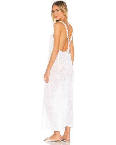 Хлопковое с ремешком белое платье Pitusa