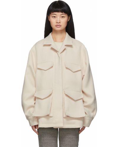 Белая куртка с воротником Toteme