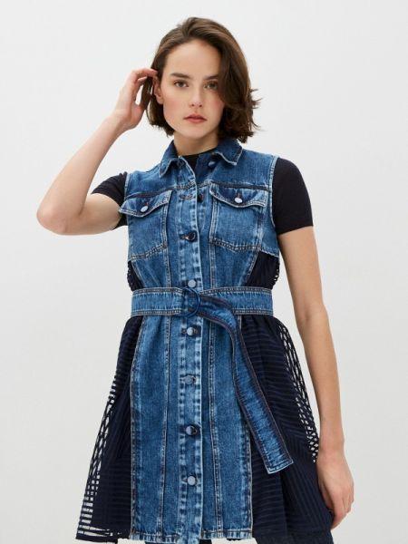 Джинсовое платье спортивное синее Sportmax Code