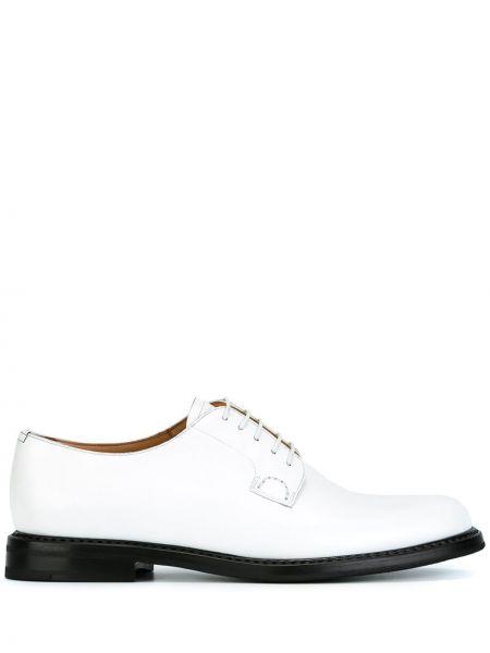 Кожаные туфли на шнуровке белый Church's