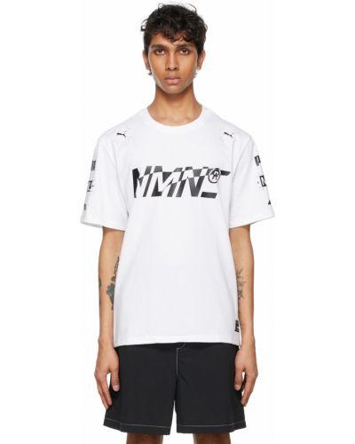 Biały t-shirt bawełniany krótki rękaw Nemen