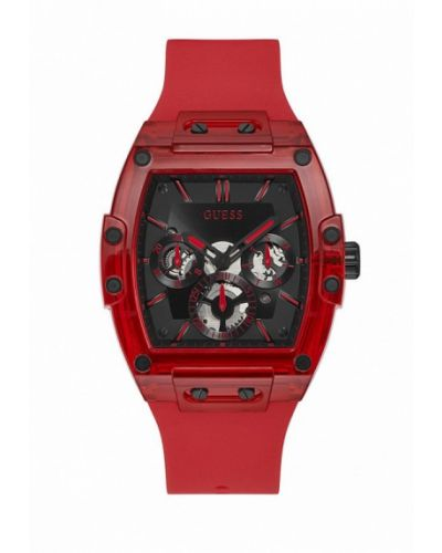 Красные часы Guess