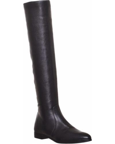 Кожаные сапоги - черные Prada