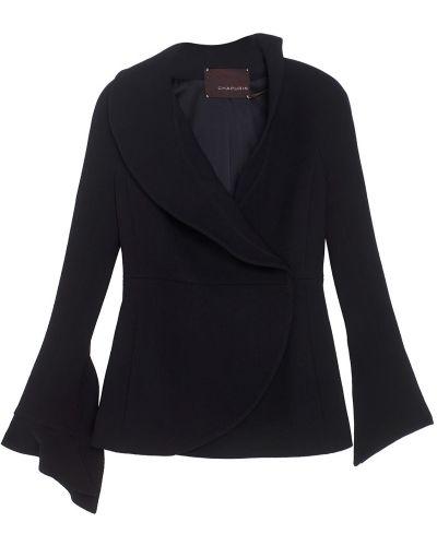 Шерстяной черный пиджак с подкладкой Chapurin