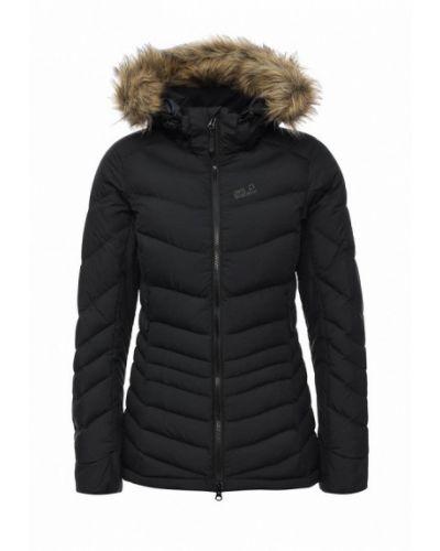 Зимняя куртка черная осенняя Jack Wolfskin