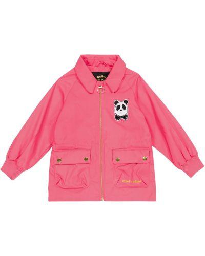 Różowa kurtka bawełniana vintage Mini Rodini