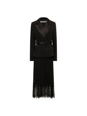 Платье с подкладкой - черное Self-portrait