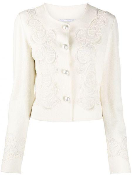 Шелковый кружевной приталенный удлиненный пиджак Ermanno Scervino