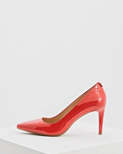 Туфли на каблуке кожаные лодочки Michael Michael Kors