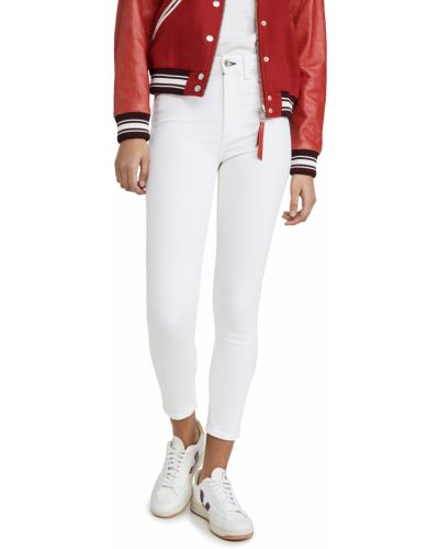 Mom jeans bawełniane - białe Rag & Bone