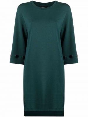 Зеленое платье трапеция с вырезом Armani Exchange