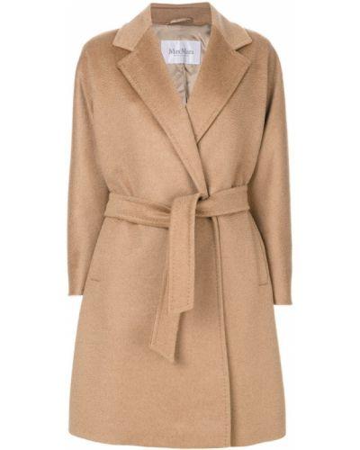 Длинное пальто с запахом шерстяное Max Mara