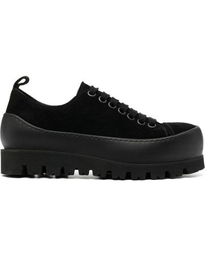 Ажурные кожаные черные пинетки на шнурках Ann Demeulemeester