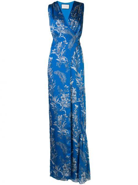 Комбинезон синий с цветочным принтом Alexis
