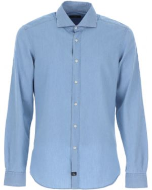 Koszula z długim rękawem dżinsowa lato Fay