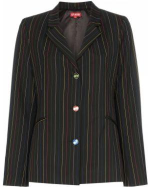 Черный пиджак с манжетами Staud