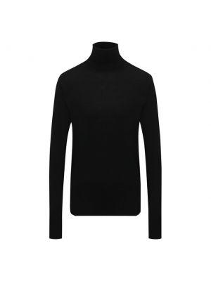 Шерстяная водолазка - черная Windsor