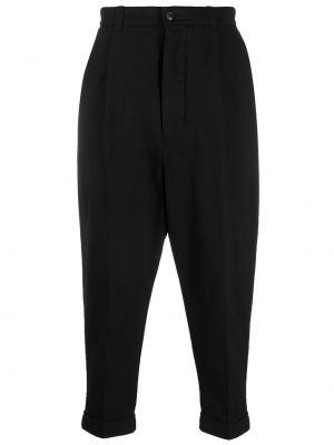 Укороченные брюки - черные Ami Paris